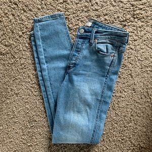 Free People Ankle Skinny Jeans Light Wash